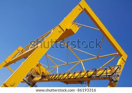 Crane in harbour for logistics