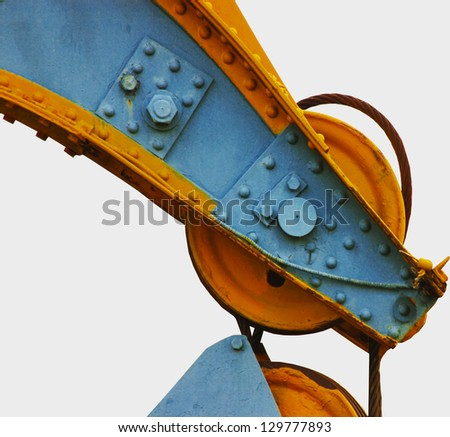 crane sling on a white background