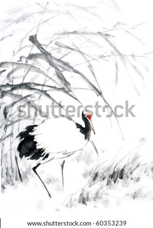 Crane,Traditional Chinese Painting