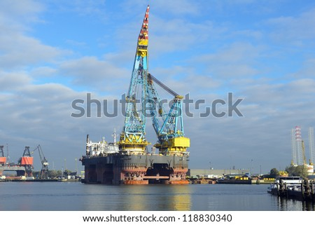 crane vessel for offshore platform installation