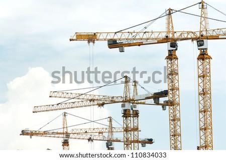 Cranes in construction site