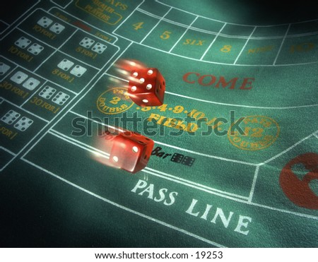 Craps special effects a pair of dice flying on a craps - Lucky number 7 wallpaper ...