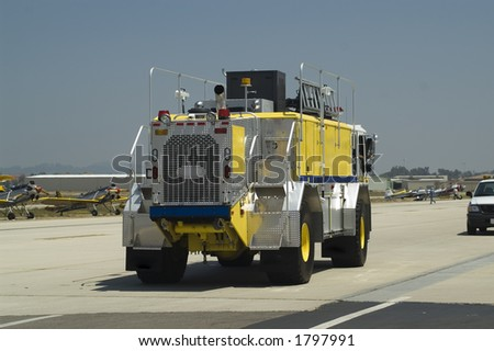 Crash and Rescue Vehicle at Airport