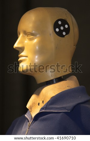 Crash Test Dummy for testing vehicle