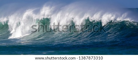 Crashing giant  Ocean Wave panorama