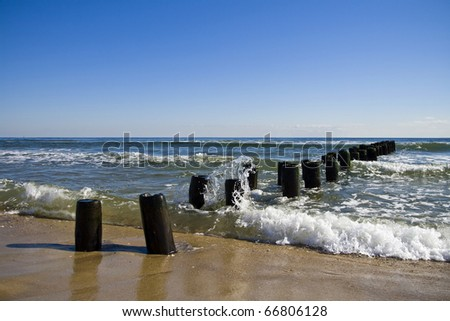 Crashing Waves on an Abandoned Pier