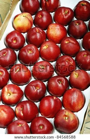 Crate of nectarines