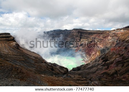 Crater of the volcano Aso