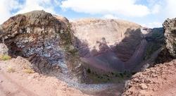 Crater of volcano Mount Vesuvius, Italy