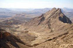 Crater Ramon in Negev desert, Israel