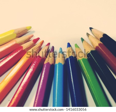 crayon drawing for drawing white