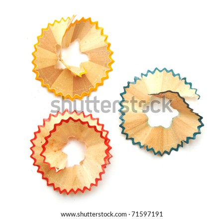 crayon shavings on white background #71597191