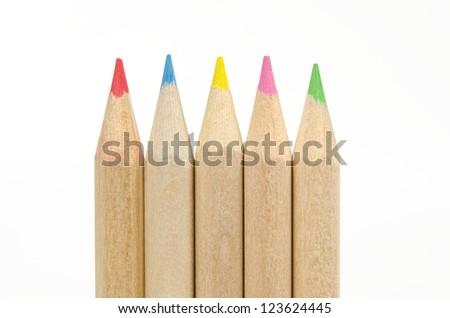 crayon tips close up