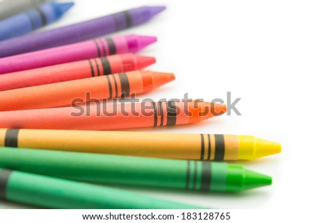 Crayons of beautiful color, isolated on white