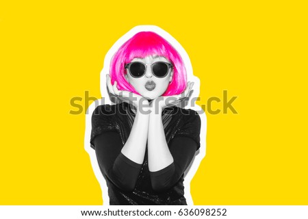 crazy beautiful rock girl in a...