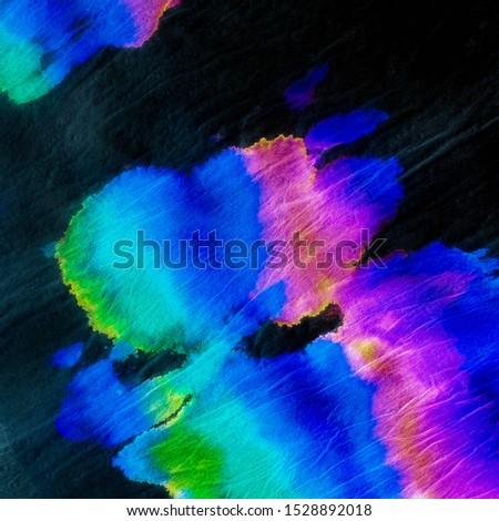 Crazy Blotch Tye Dye Pattern .Tie Dye Dirty Watercolor. Craft Dirty Background. Paint Splashing Banner. Hallucination Trendy Watercolour Print. Fantasy Washes