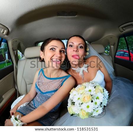 Crazy bride and Friend