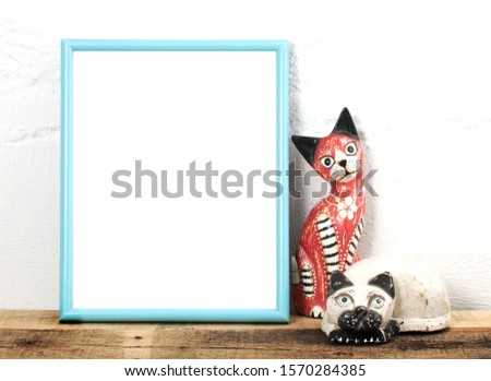 Crazy Cat Frame Mockup Template
