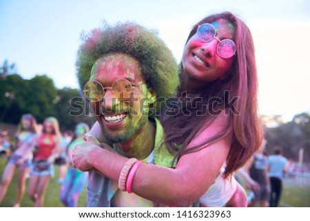 Crazy couple in good mood