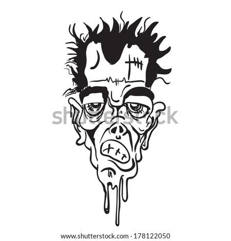 Cartoon Crazy Face Crazy Face Cartoon Doodle