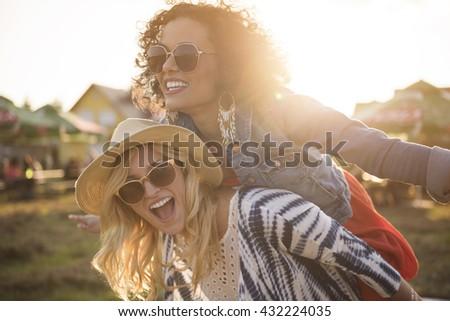 Crazy girls in good mood