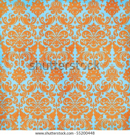 Crazy Summer Textured Damask Pattern Background
