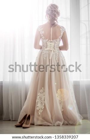 Cream bridesmaid dress. Wedding Dress. Holiday dress.