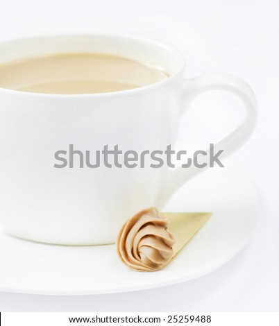cream coffee and praline