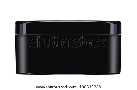 Cream container isolated on white background - stock photo
