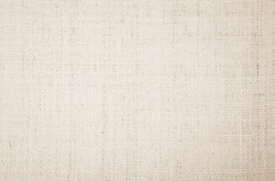 Cream Hemp rope texture background. Haircloth or blanket wale linen wallpaper. Rustic sackcloth canvas fabric texture in natural. Natural vintage linen burlap weaving, Old beige carpet background.
