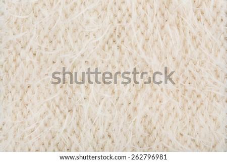 Cream knitting wool texture background