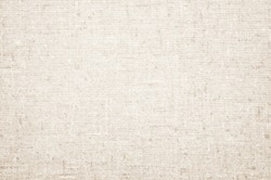 Cream Pastel abstract Hessian or sackcloth fabric or hemp sack texture background. Wallpaper of artistic wale linen canvas. Blanket or Curtain of cotton pattern with copy space for text decoration.