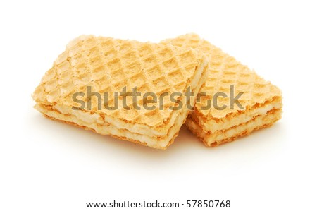 cream wafers isolated