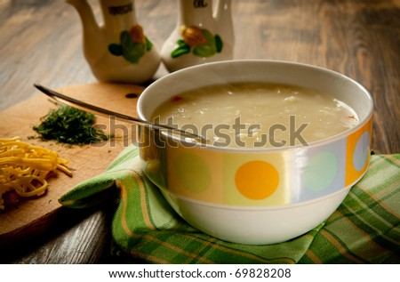 Creamy Chicken Noodle Soup in a bowl
