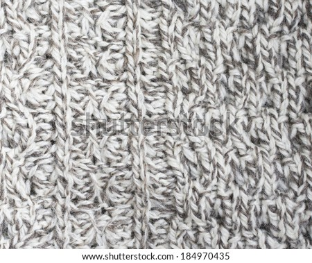 Creamy off-white wool knit work. Creamy off-white wool knit work full frame for warming artisan backdrop or background.