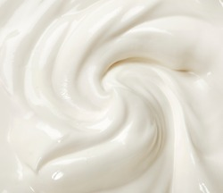 Creamy white swirl of yoghurt