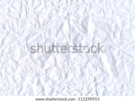 creased sheet of paper