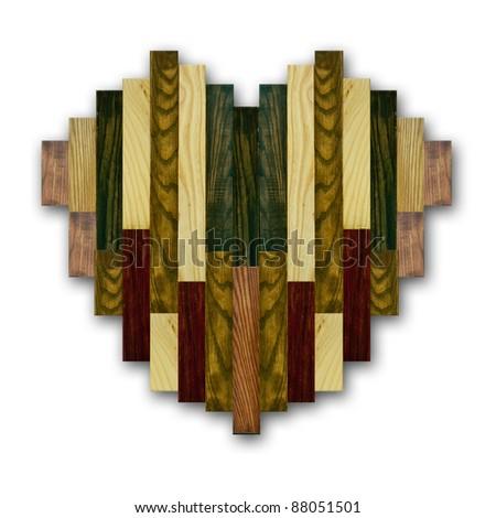 Created unique wood  heart symbol