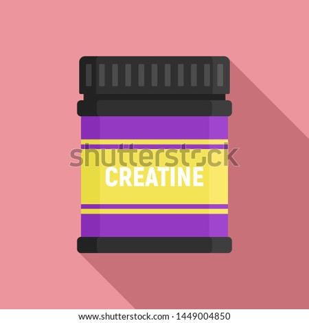 Creatine sport nutrition icon. Flat illustration of creatine sport nutrition icon for web design