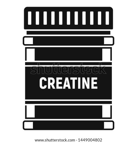 Creatine sport nutrition icon. Simple illustration of creatine sport nutrition icon for web design isolated on white background