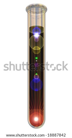 Creation in a testtube isolated on white