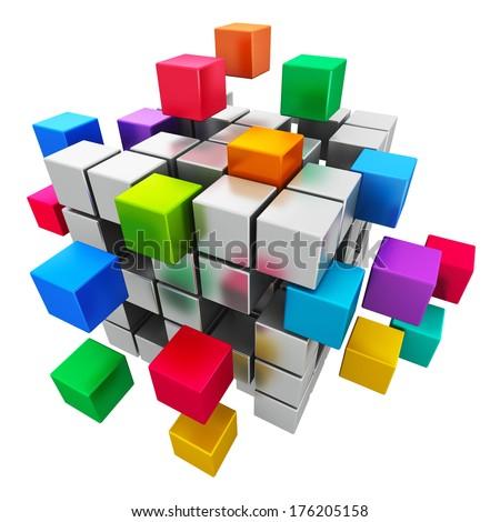 Creative abstract business teamwork, internet and ...  Teamwork Spellen