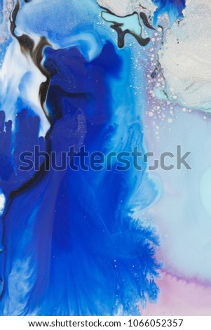 Creative abstract hand painted background, wallpaper, texture, close-up fragment of acrylic painting on canvas. Modern art. Contemporary art.