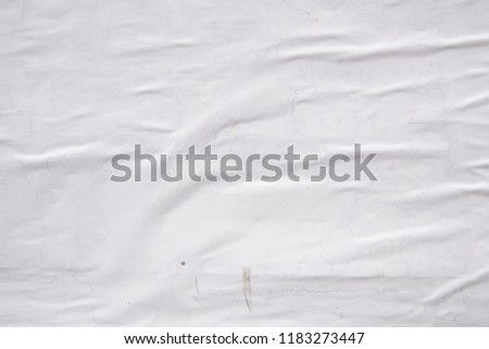 creative abstract original white paper texture #1183273447