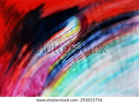 Creative background or Colorful painted background, Waves background, Postcard design, Red and colorful
