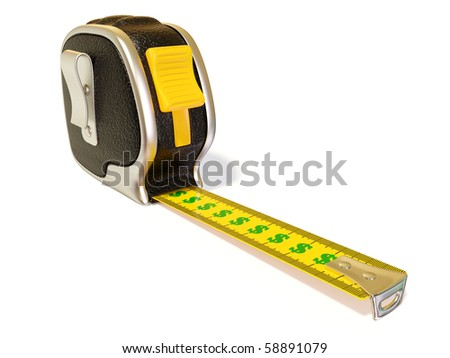 creative black  tape measure on white background isolated