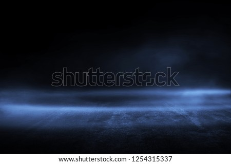 Creative blurry asphalt background with mist light high speed