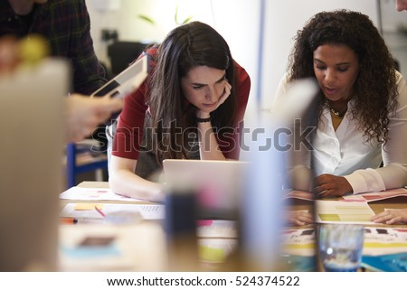 Creative Brainstorming Meeting In Design Office