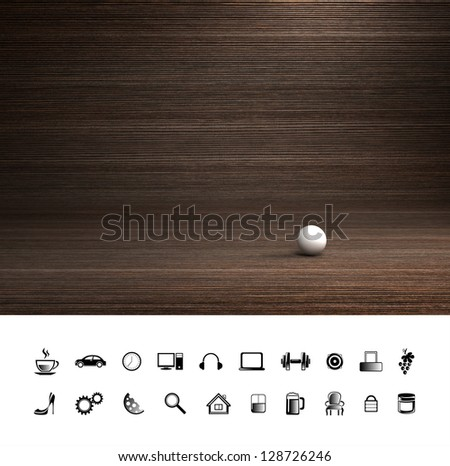 Creative cafe wood background. Proffesional photo studio place.