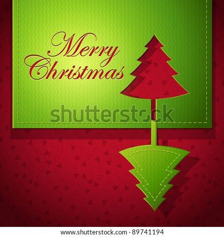 creative Christmas greeting card - RASTER version